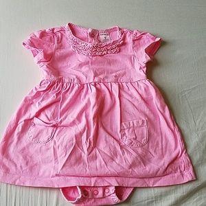 KIDS BUNDLE carters hot pink ruffle collar dress